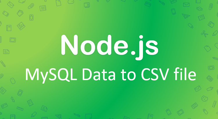 nodejs-export-mysql-csv-file