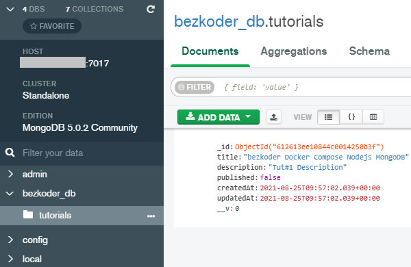 docker-compose-nodejs-mongodb-example-test-database